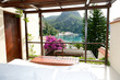 View from the luxury villa on beach, Fethiye, Turkey