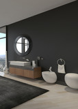 Exclusive Luxury Bathroom Interior in a modern Penthouse  poster