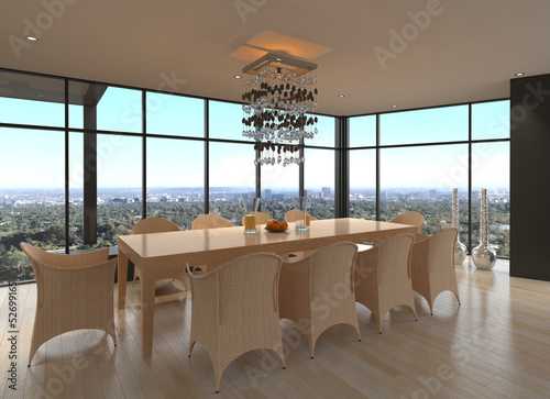 Modern Design Dining Room | Living Room Interior