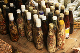 Fototapety Display of bottles with