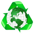 Recycle Symbol With Large Green Earth