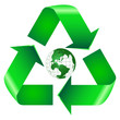 Recycle Symbol With Green Earth