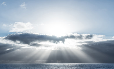 Sunrays on the ocean