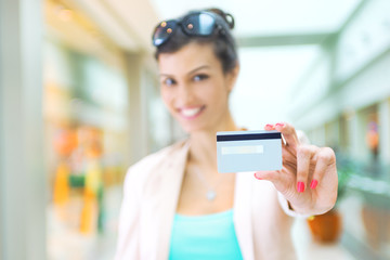 Shopping time, focus on credit card