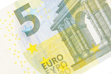 new five euro banknote front side