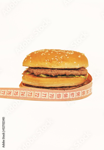Burger isolated on a white background