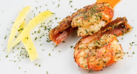 prawns with garlic and lemon