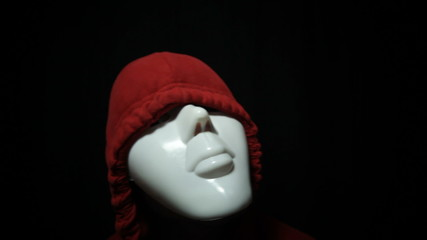 Psycho horror masked man over dark background