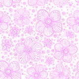 Light pink flourish seamless pattern