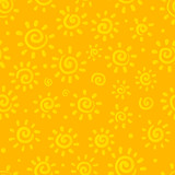 Sunny orange vector seamless pattern