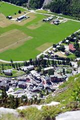 vue aérienne de pralognan la vanoise