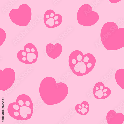 cute pink background with hearts