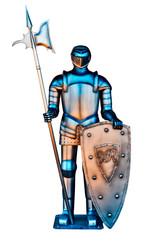 A vintage Iron Knight with spear
