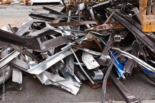 Close up of scrap metal