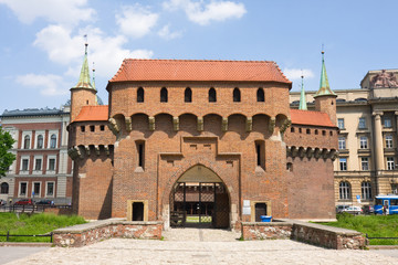 gate to Krakow - the best preserved barbican in Europe, Poland