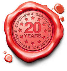 twenty years experience
