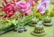Wellness Grün Rosa Kerzen