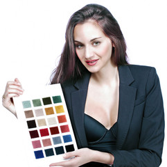 Color and fabric woman or professional designer