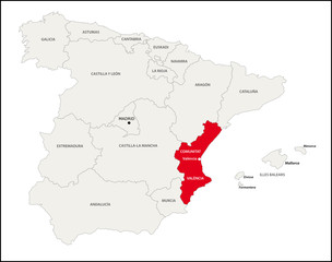 Land Valencia, Spanien
