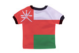 Small shirt with Oman flag isolated on white background
