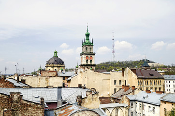 Daytime view of the Lvov city