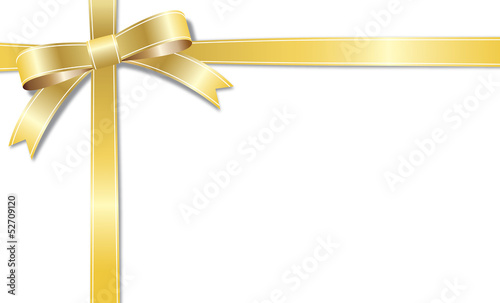 The card of a golden ribbon
