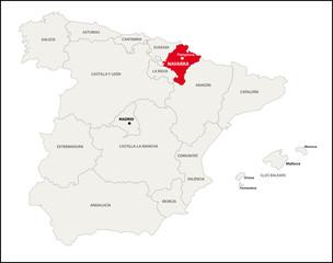 Autonome Region Navarra, Spanien