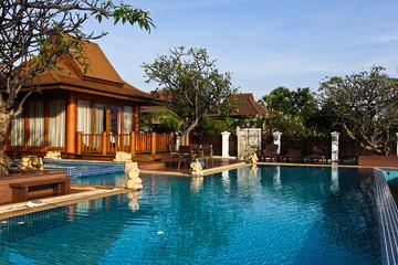 Seaside villa with pool.