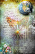 Obrazy na płótnie, fototapety, zdjęcia, fotoobrazy drukowane : Golden butterfly