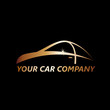 Vector golden Logo car service