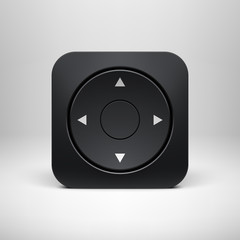 Technology Black Joystick App Icon