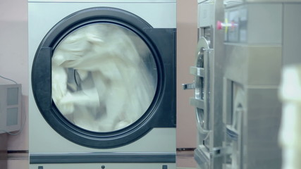 Industrial washer in laundry