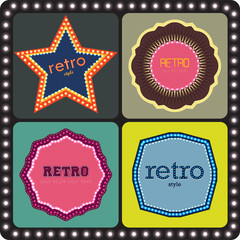 retro style badge & labels, advertising banners