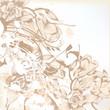 Elegant wedding background with floral pattern for design