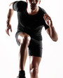 Hombre atleta corredor ejercitando.corriendo