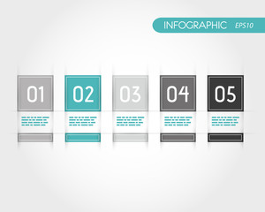 turquoise square infographics with fringe