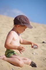 enfant à la plage - expérience