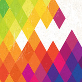 Retro colorful rhombus background, vector