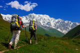 Hiking in Caucasus mountains