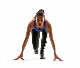 Joven mujer atlética en forma.Corredora.