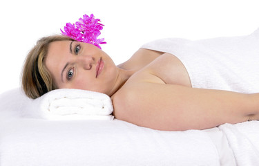 Day spa aroma therapy and massage