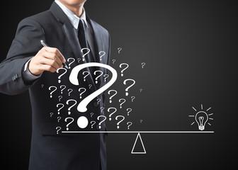 business man eliminate problem and find solution