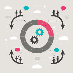 teamwork concept - connection