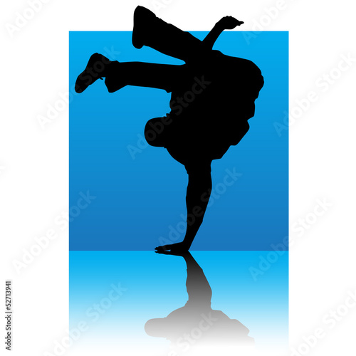 break dancer blue square