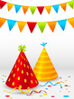 Birthday hats background