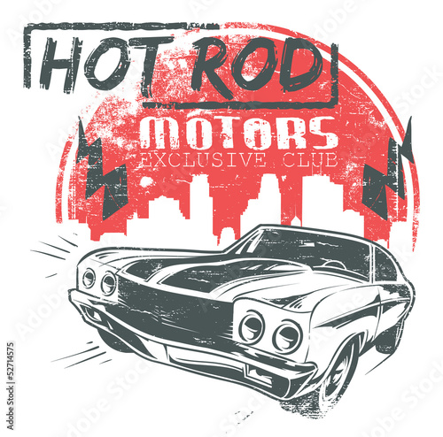 Hot rod motors © Tshirt-Factory.com