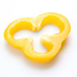 Yellow sweet pepper slice