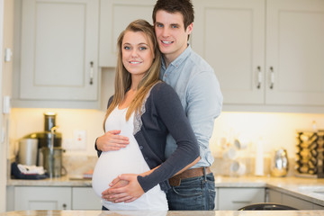 Man with his pregnant wife
