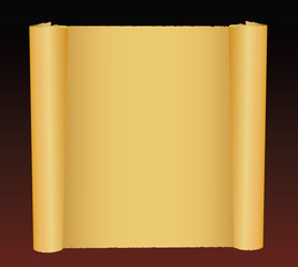 Scroll of old paper. Vector