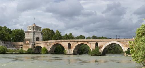 Rome Milvio bridge view
